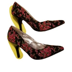 RAMPAGE FLORAL CLASSIC PUMP floral shoes 7 multico